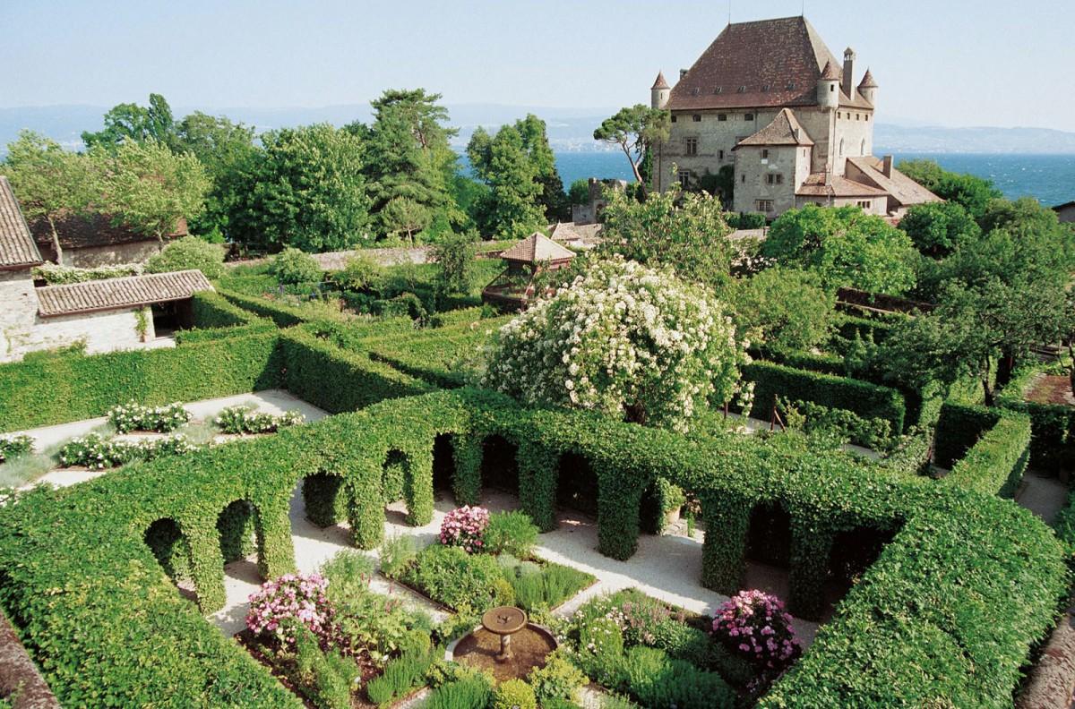 The Garden of Five Senses, Yvoire, France.Hotel Restaurant Cluses Haute  Savoie Hotel du Faucigny
